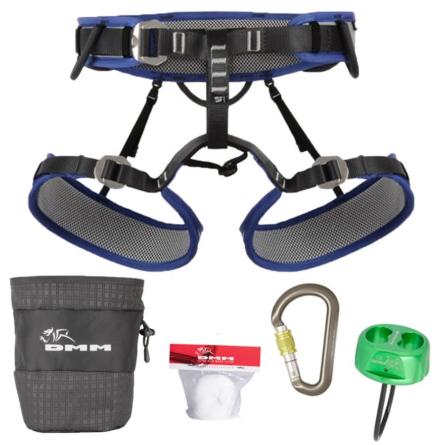 DMM Viper 2 Pack Men's Rock Climbing Harness Set M Blue/Grey