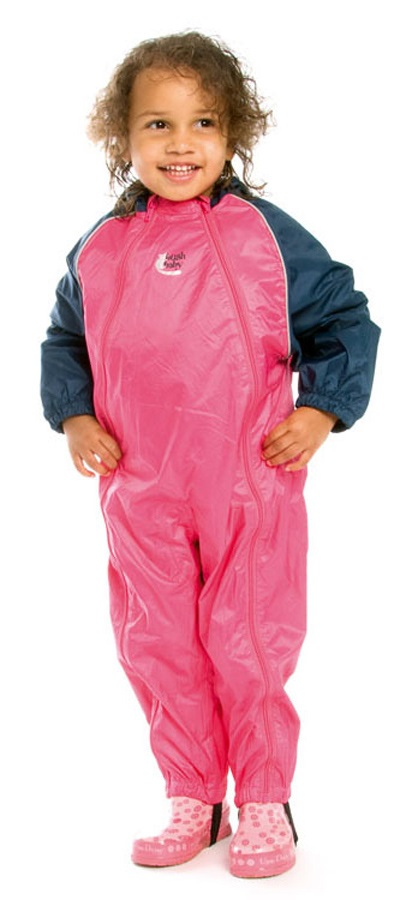 Bushbaby Splashsuit Baby/Kids Waterproof One Piece, 6-12months Pink