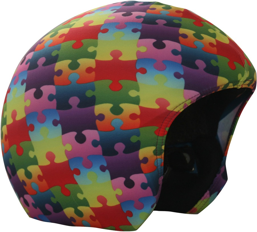 Coolcasc Printed Cool Ski/Snowboard Helmet Cover, Colour Puzzle