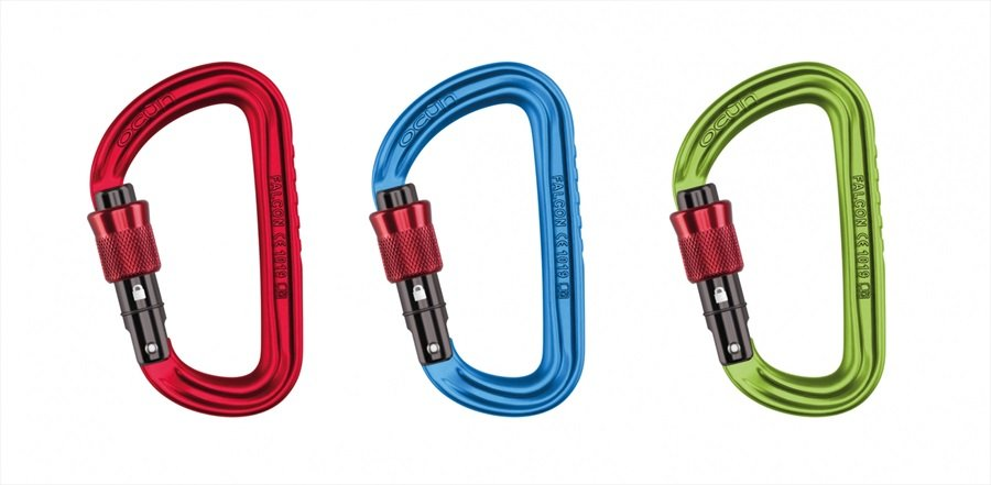 Ocun Falcon Screw 3-Pack Rock Climbing Carabiner, Multi