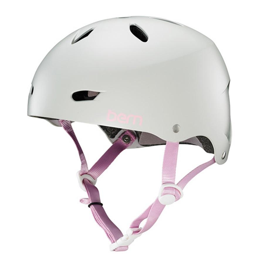 Bern Brighton H2O Ladies Watersports Helmet, M Satin Grey Pink