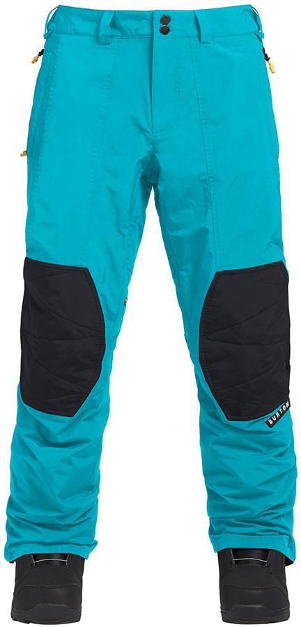 Burton Retro 2 Layer Ski/Snowboard Pants Trousers, S Tahoe/True Black