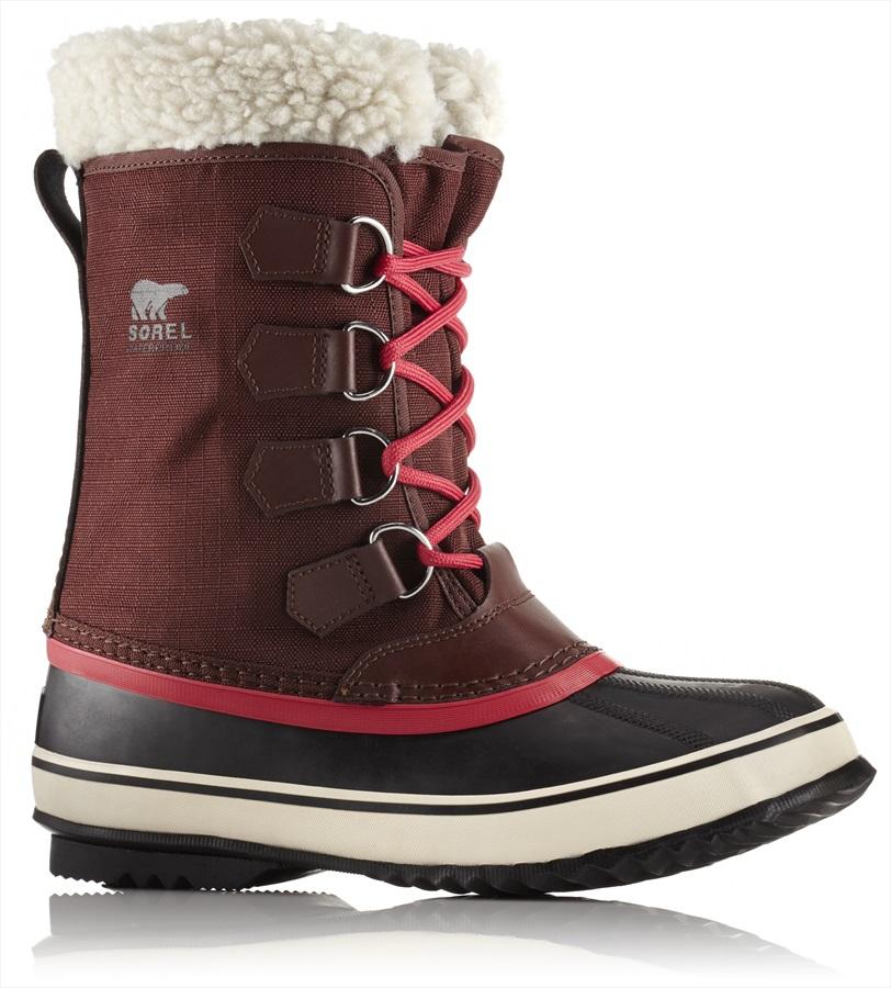 Sorel Winter Carnival Women's Snow Boots, UK 4 Redwood/Candy Apple