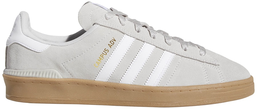 Adidas Campus ADV Men's Trainers Skate Shoes, UK 8 Grey/White/Gold