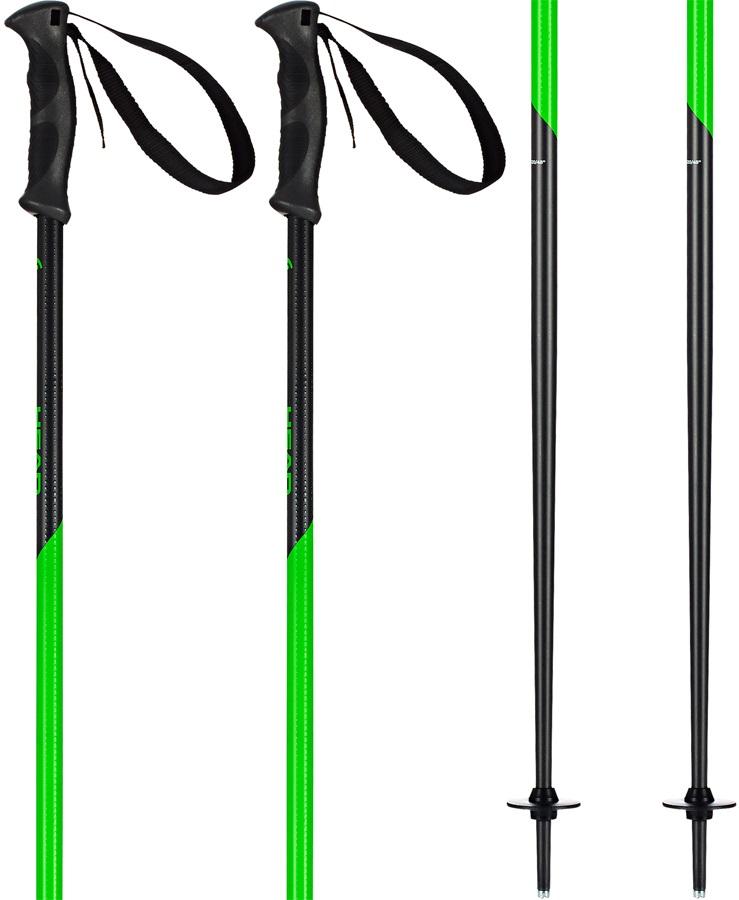 Head Multi S Ski Poles, 115cm Anthracite/Green