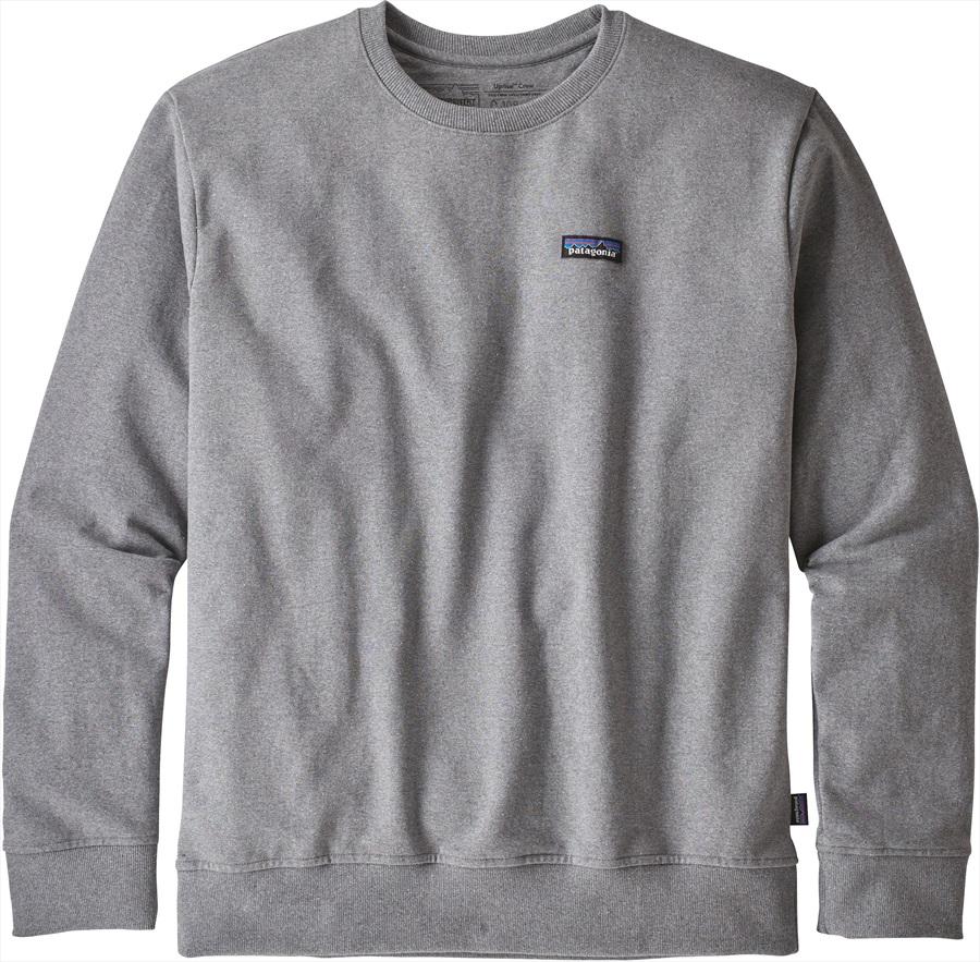 Patagonia P-6 Label Uprisal Crew Sweatshirt, S Gravel Heather