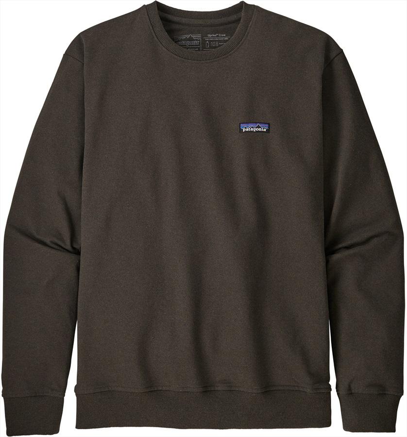 Patagonia P-6 Label Uprisal Crew Sweatshirt, S Logwood Brown