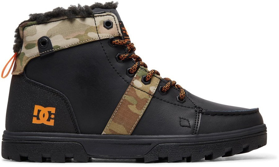 DC Woodland Men's Winter Boots, UK 8.5 Black/Multi