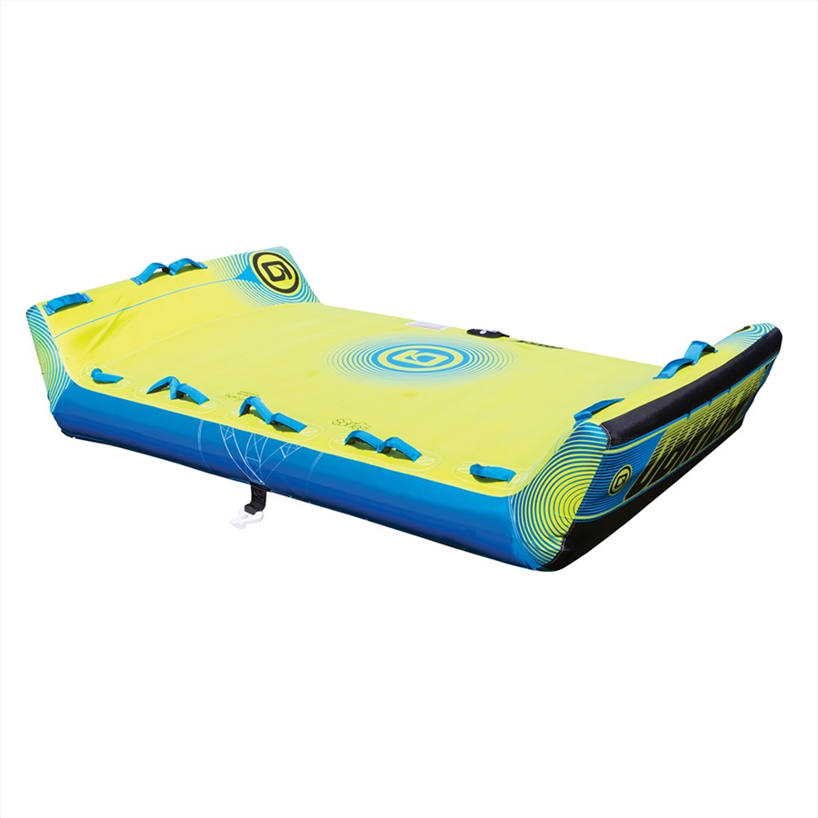 O'Brien Booker U Deck Towable Inflatable Tube, 4 Rider Blu Yellow 2019
