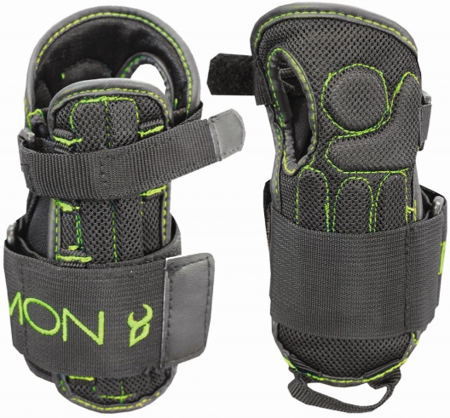 Demon Flex V2 Ski/Snowboard Wrist Guards, S/M Black/Green