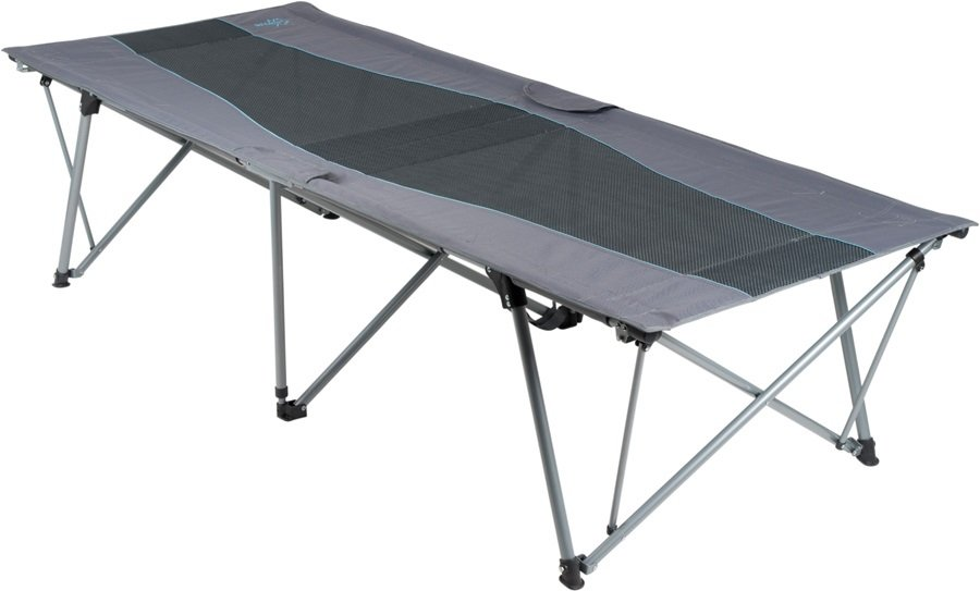 Bo-Camp Folding Bed Extra High Camp Bed, XL Grey