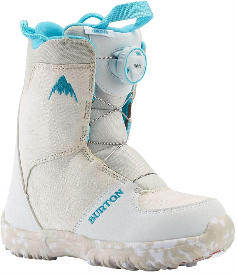 Burton Grom Boa Kid's Snowboard Boots, UK 10K White 2020