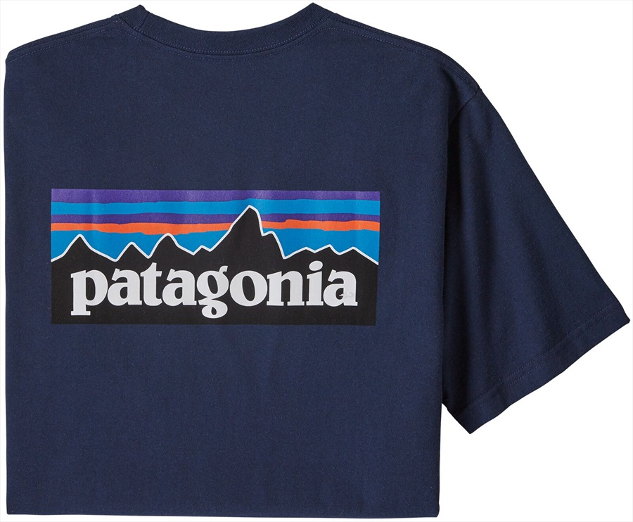 Patagonia P-6 Logo Responsibili-tee T-Shirt, Medium Classic Navy