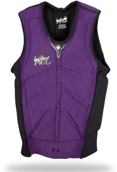 Liquid Force Women's Cardigan Comp Impact Vest, L Purple