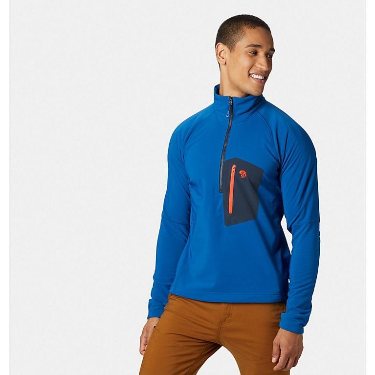 Mountain Hardwear Keele Technical Pullover, S Nighfall Blue
