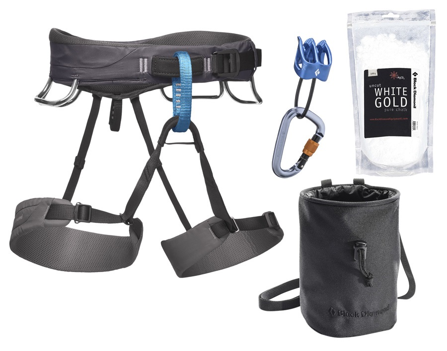 Black Diamond Momentum Rock Climbing Package - XXL, Slate