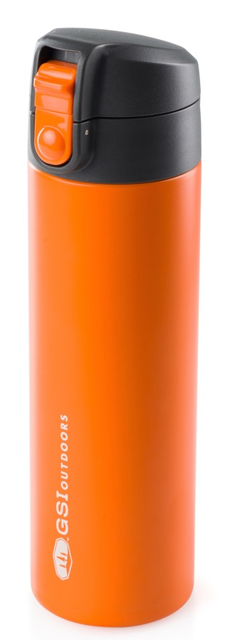 GSI Outdoors Microlite Flip Vacuum Insulated Bottle, 500ml Orange