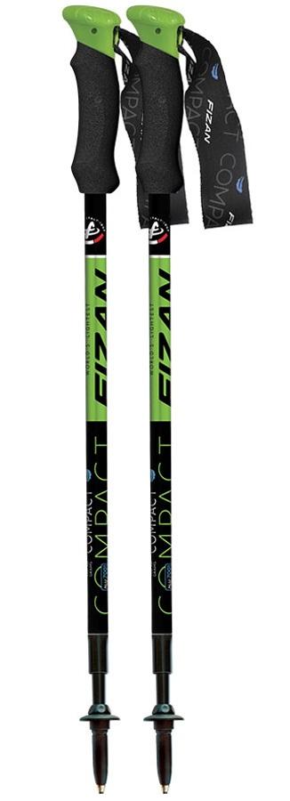 Fizan Compact Ultralight Trekking Poles, 58-132cm Green