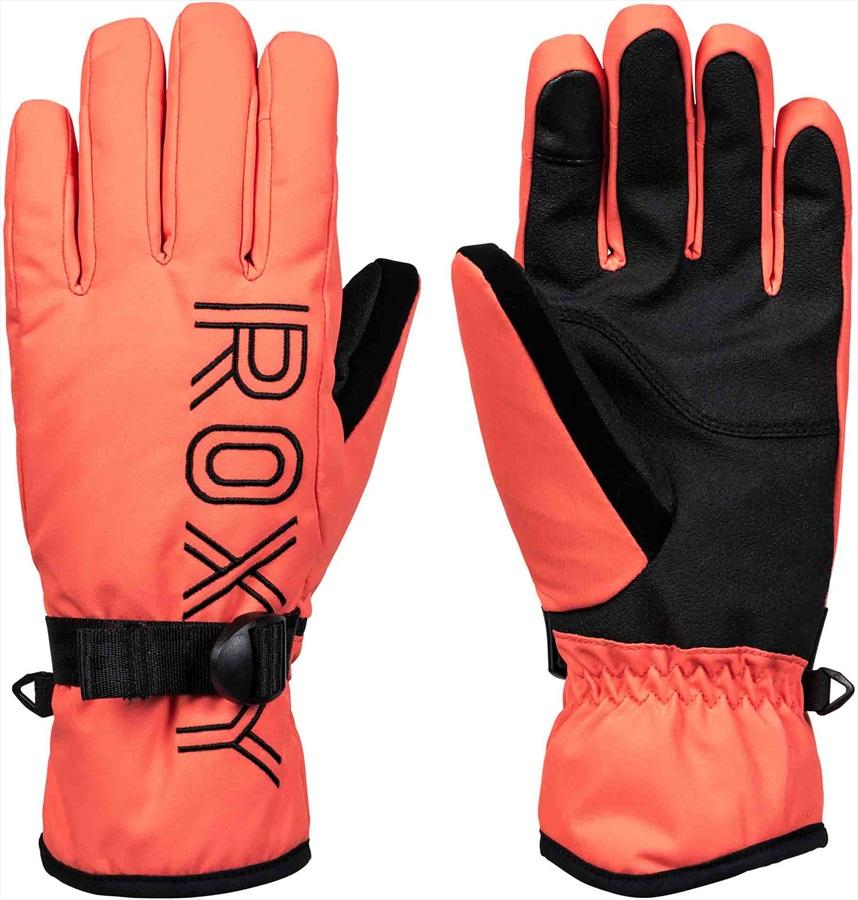 Roxy Freshfield Women's Snowboard/Ski Gloves, S Living Coral