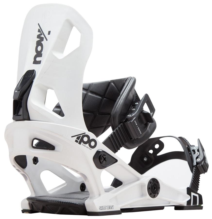 NOW IPO Snowboard Bindings, Large White 2018New Ipo Snowflake