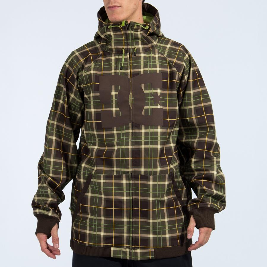 DC Spectrum Ski/Snowboard Softshell Jacket Extra Large Grunge Plaid