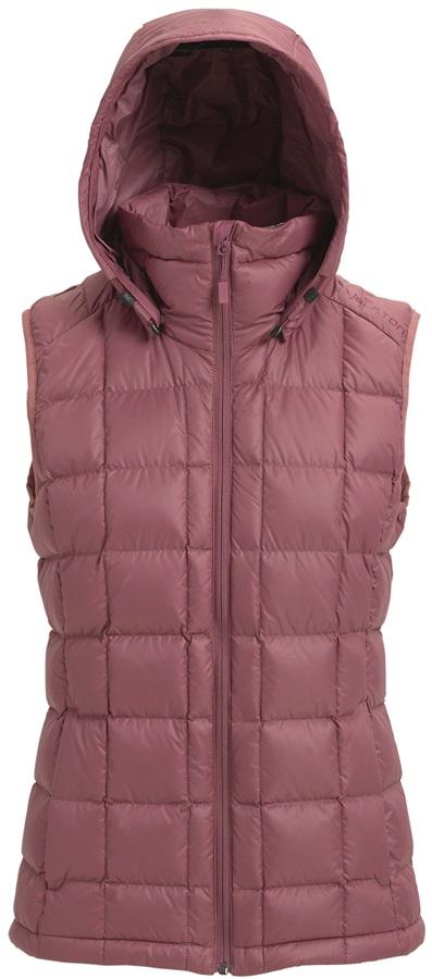 Burton [ak] Squall Down Womens Puffa Gilet Vest, S Rose Brown