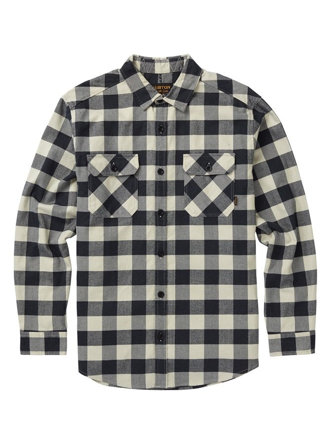 Burton Brighton Flannel Long Sleeve Shirt, M Canvas Heather Buffalo