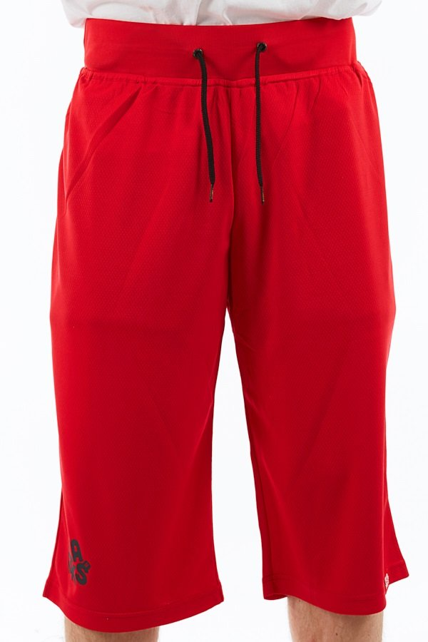 Planks Shred Base Layer Thermal Shorts, L Red/Black