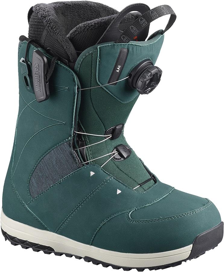 Salomon Ivy BOA SJ Women's Snowboard Boots, UK 5 Deep Teal 2019