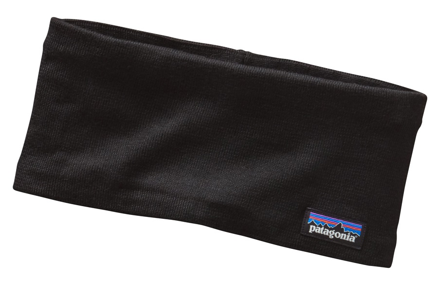 Patagonia Lined Knit Wide Fit Headband OS Black