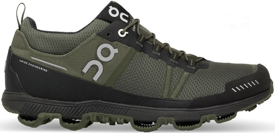 On Cloudventure Midtop Men's Trail Running Shoes, UK 9.5 Pine/Stone