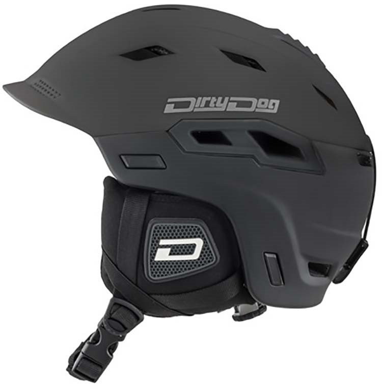 Dirty Dog Crater Snowboard/Ski Helmet, S Matte-Black
