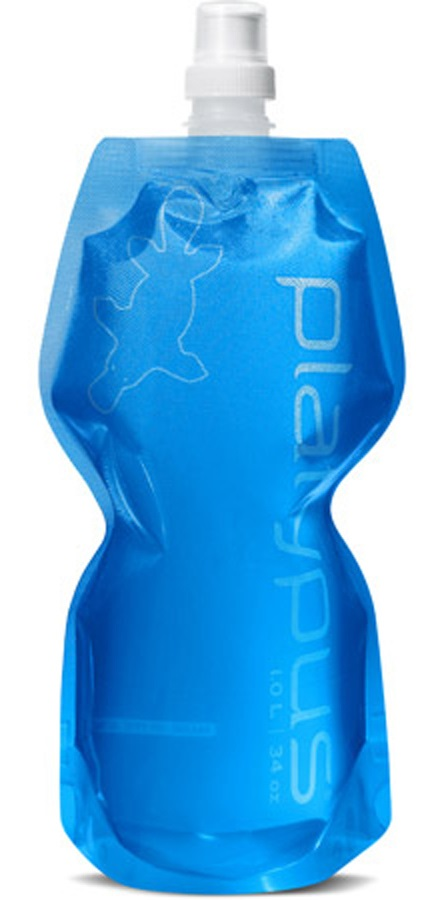 Platypus Softbottle Push-Pull Cap Flexible Water Bottle, 0.5L Blue