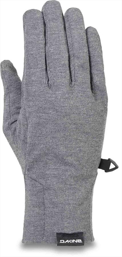 Dakine Syncro Wool Women's Ski/Snowboard Liner Gloves, M Gunmetal