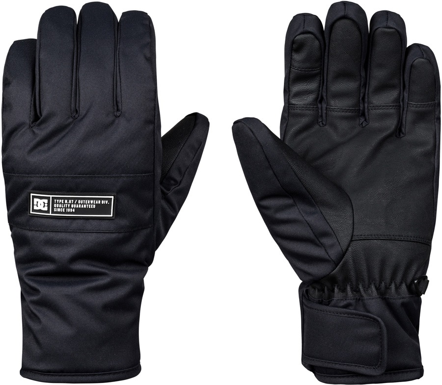 DC Franchise Ski/Snowboard Gloves, S Black