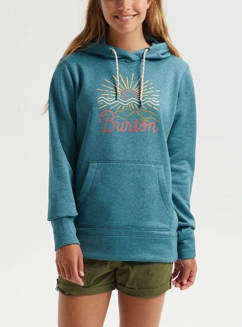 Burton Oak Pullover Women's Ski/Snowboard Hoodie, M Hydro Heather