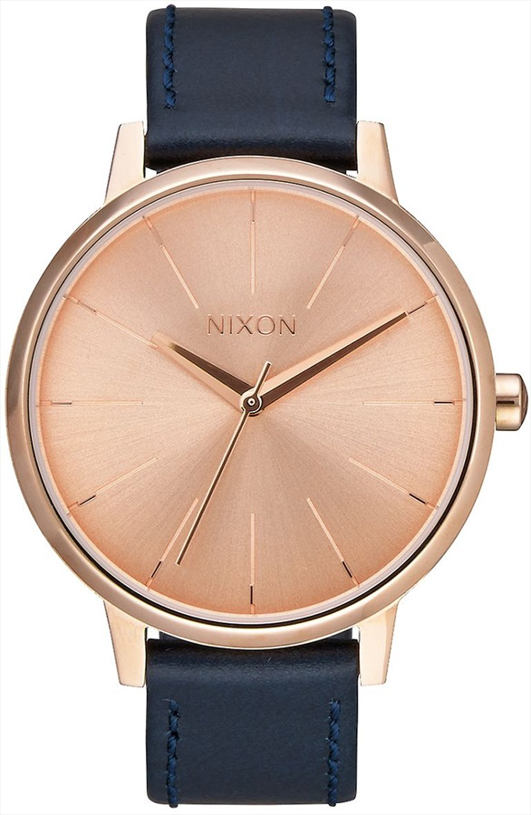 Nixon Kensington Leather Women's Watch Rose Gold/Navy