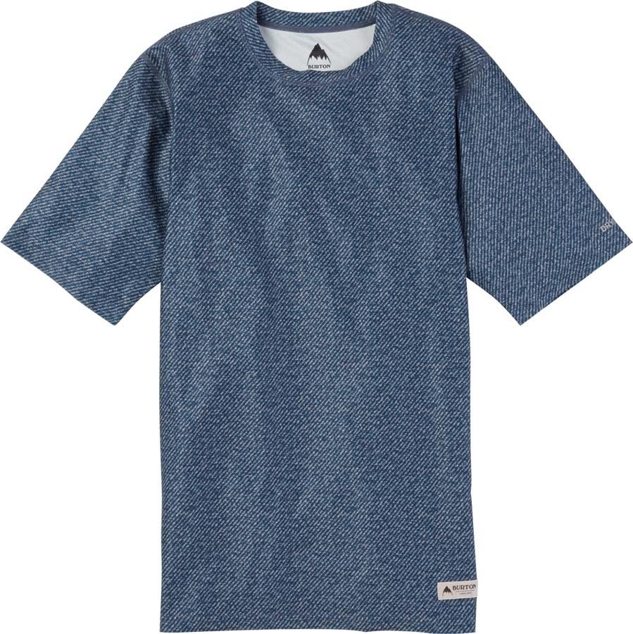Burton Lightweight Tee Baselayer Shirt, S Mood Indigo