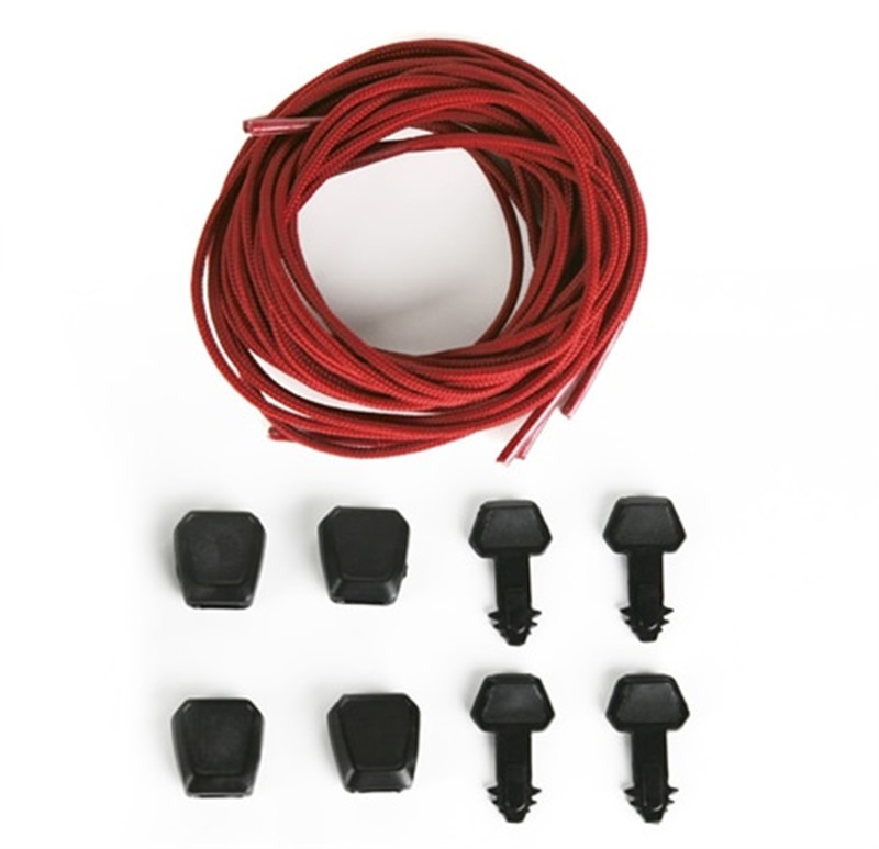 Ronix Auto Lock Lace Kit For Wakeboard Bindings, 4 Pack Red