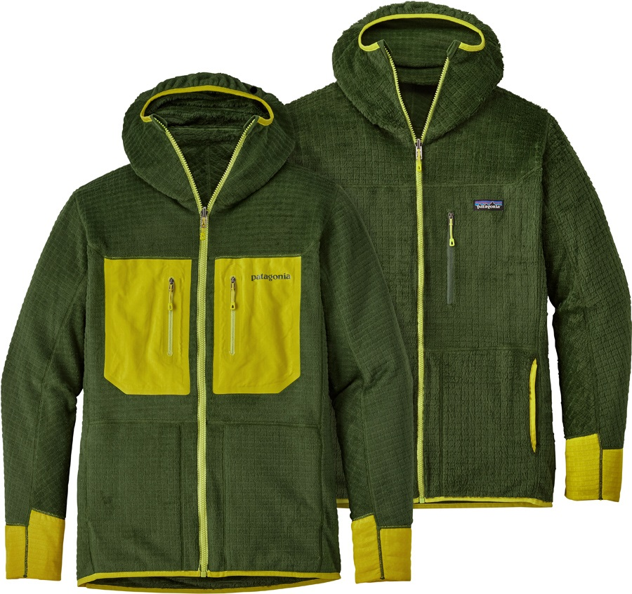 Patagonia R3 Reversible Hoody Mid Layer Jacket, S Glades Green
