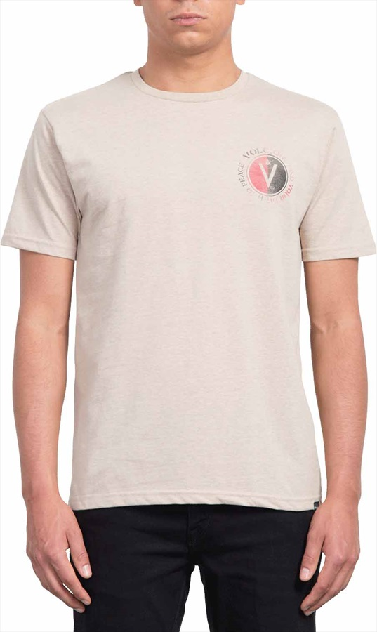 Volcom Adult Unisex Find Heather T-Shirt, L Oatmeal