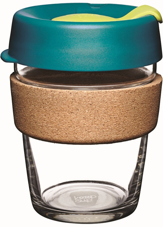 KeepCup Brew Cork Glass Reusable Tea/Coffee Cup, 340ml/12oz Turbine