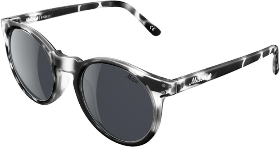 Melon Echo Smoke Polarized Sunglasses, Black Tortiose