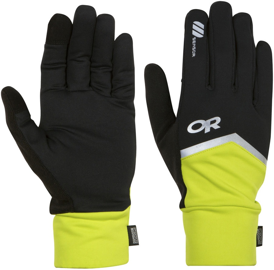 Outdoor Research Speed Sensor Gloves, S Black/Lemon