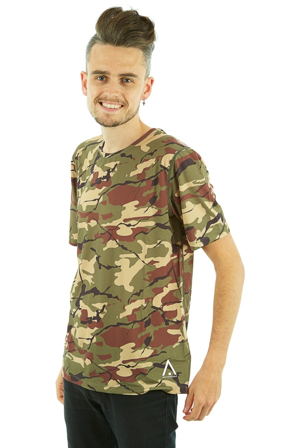 Wearcolour Raise Tee Men's Sports T-shirt, M Leaf Camo