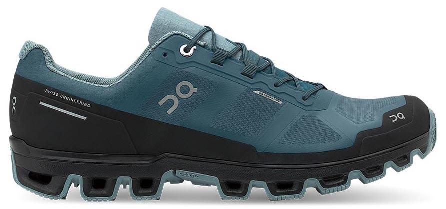 On Cloudventure Waterproof Men's Running Shoes, UK 7 Storm/Cobble