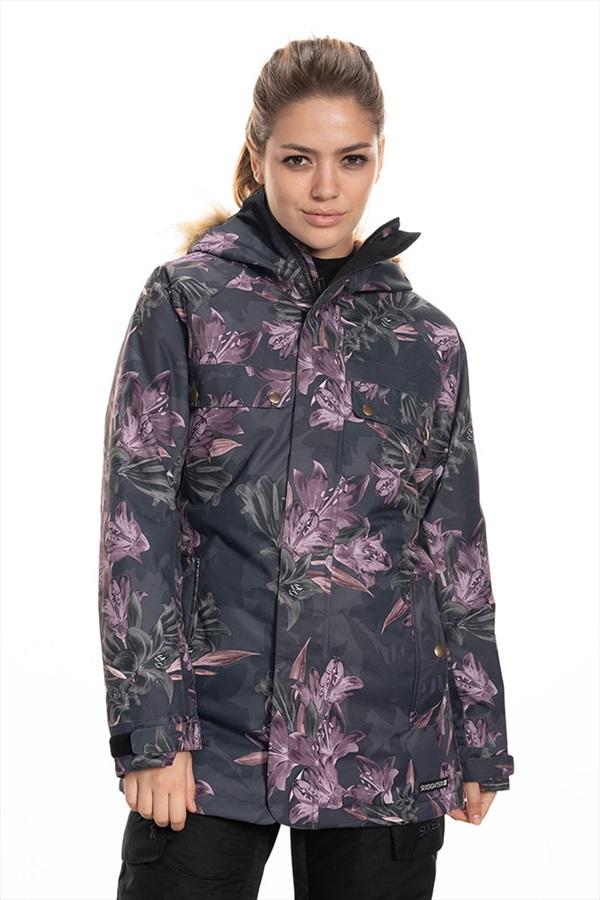 686 Dream Womens Snowboard/Ski Jacket, S Black Tiger Lily