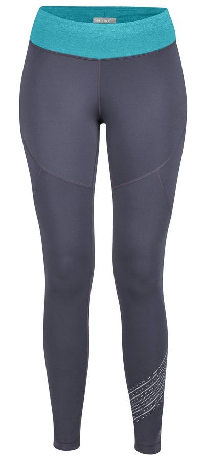 Marmot Fore Runner Tight Women's Baselayer Leggings, UK 14 Grey/Blue