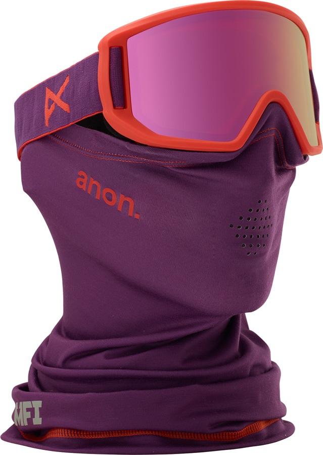 Anon Relapse Jr MFI Pink Amber Ski/Snowboard Goggles, S MFI Purple