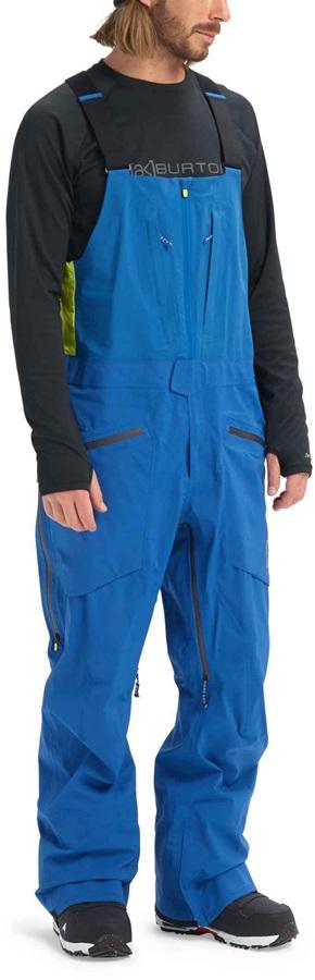 Burton [ak] 3L Freebird Bib GoreTex Ski/Snowboard Pants M Classic Blue